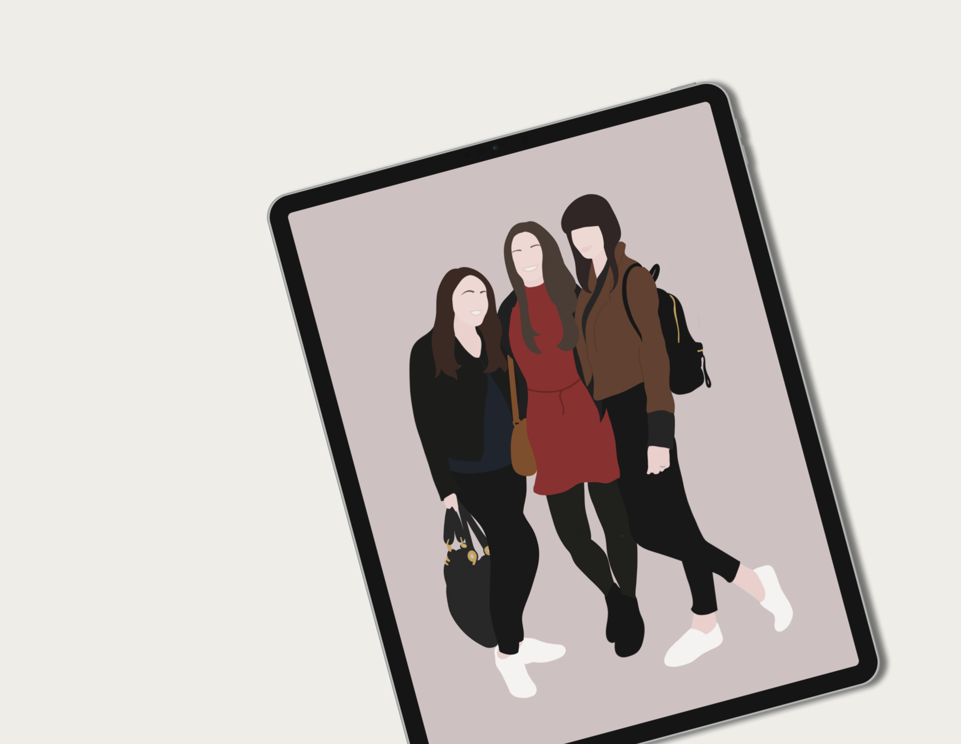 Three Friends Illustration