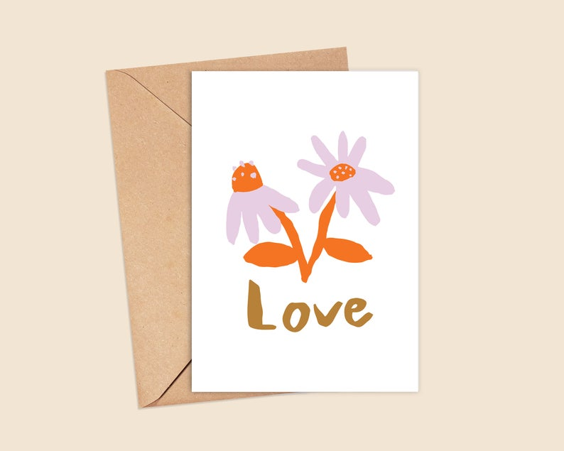 Contemporary Mothers Day Card